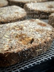 Multi-seed Fig Bread with Coconut Fig Spread  (raw, vegan, gluten-free)
