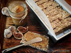 Multi-seed Fig Bread with Coconut Fig Spread  (raw, vegan, gluten-free)