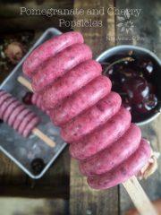 Pomegranate and Cherry Popsicles (raw, vegan, gluten-free)
