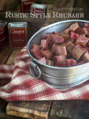 Rustic Style Rhubarb Sauce (raw, vegan, gluten-free, nut-free)