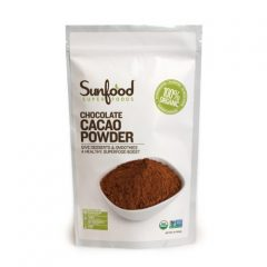 Sunfood Cacao Powder, Certified Organic, Non-GMO Verified, Vegan, Raw, 1lb