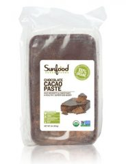 SunFood Chocolate Cacao Paste Organic — 1 lb