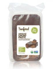 SunFood Chocolate Cacao Paste Organic — 1 lb