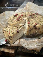 Brie Au Poivre (raw, vegan, gluten-free, cultured)
