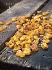 "Chili ""Cheese"" Spiced Dried Corn Nibblers (raw, vegan, gluten-free)"