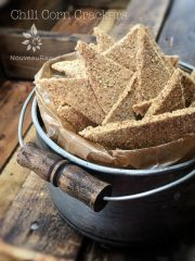 Chili Corn Crackers (raw, vegan, gluten-free)