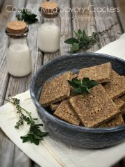 Country Living Savory Crackers (raw, vegan, gluten-free, nut-free)