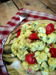 "Marinated Cauliflower ""Potato"" Salad (raw, vegan, gluten-free)"