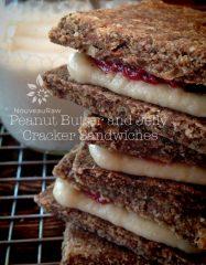 Peanut Butter and Jelly Cracker Sandwiches (raw, vegan, gluten-free)