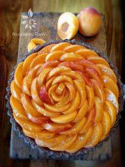 Cardamom Laced Apricot Blush Cream Pie  (raw, vegan, gluten-free)