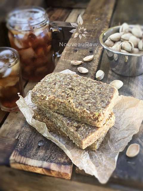 Raw Fennel Seed and Lemon Bars Stacked with Pastiches