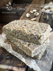 Fennel Seed and Lemon Bars (raw, vegan, gluten-free)
