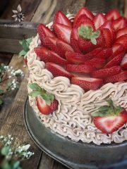 Hazelnut Cardamom and Strawberry Layered Cake  (raw, gluten-free)