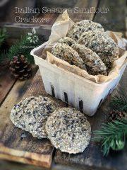 Italian Sesame Sunflour Crackers (raw, vegan, gluten-free, nut-free)