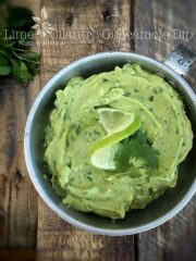 Lime Cilantro Guacamole Dip (raw, vegan, gluten-free, nut-free)