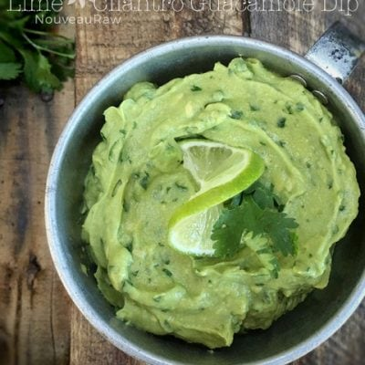 Lime Cilantro Guacamole Dip feature