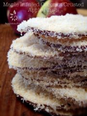 Maple Infused Coconut Crusted Apple Rings (raw, vegan, gluten-free, nut-free)