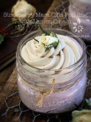 Strawberry Maca Chia Pudding with Lemon Cream (raw, vegan, gluten-free)