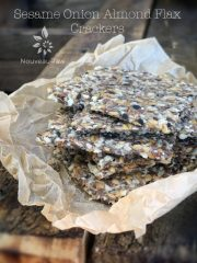 Sesame Onion Almond Flax Crackers (raw, vegan, gluten-free)