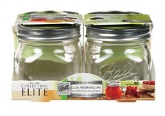 Ball, Collection Elite, 4 Pack, , Platinum, Wide Mouth, Jars (4x4CT )