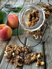 Black Pepper Honey Ginger Chewy Granola  (raw, vegan, gluten-free)