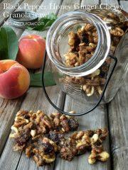 Black Pepper Honey Ginger Chewy Granola  (raw, vegan, gluten-free)