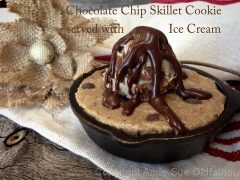 Chocolate Chip Skillet Cookie served with Ice Cream