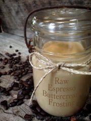 Espresso Buttercream Frosting (raw, vegan, gluten-free)