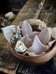 Hazelnut and Orange Coconut Bark (raw, vegan, gluten-free, nut-free, sugar-free)