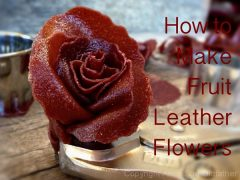 How to Make Fruit Leather Flowers