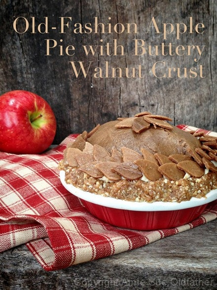 Raw, Vegan, Gluten Free Apple Pie with Buttery Walnut Crust