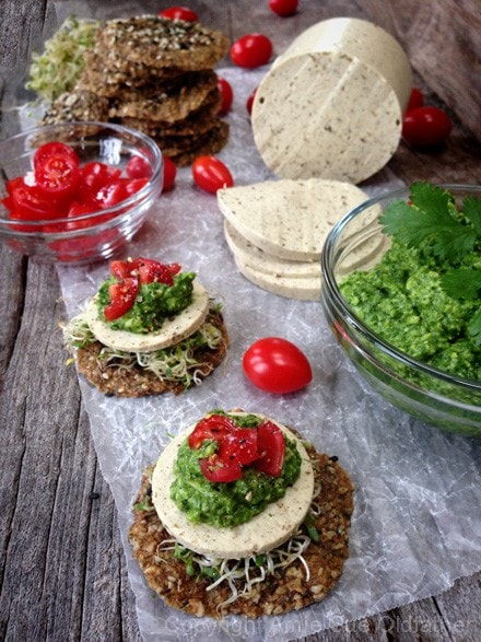 Raw-Pesto-and-Cheese-Stack-on-a-Caraway-and-Fennel-Onion-Cracker2