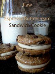 Chocolate Chip and Espresso Buttercream Sandwich Cookie