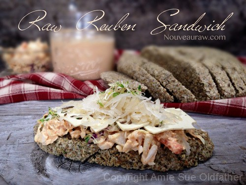 Raw Caraway and Dill Bread Reuben Sandwich