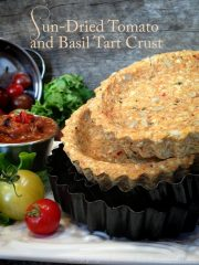 Sun-Dried Tomato and Basil Tart Crusts (raw, vegan, gluten-free)