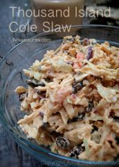 Thousand Island Cole Slaw (raw, vegan, gluten-free)