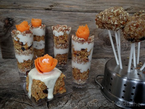 Raw Gluten-free Buttery Walnut Carrot Cake Bars, Parfait, & Cake Pop recipe, so delicious