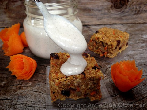 Heavenly Buttery Walnut Carrot Cake Bars with luscious home-style vanilla bean icing, perfect