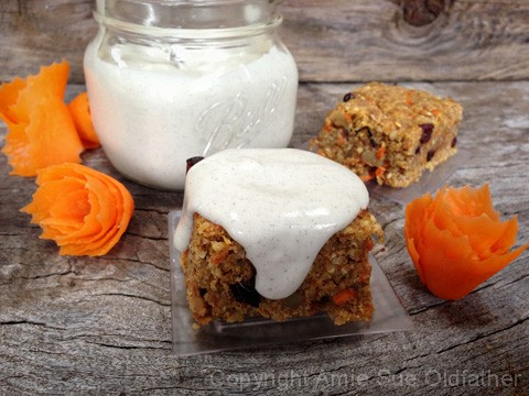 Delicious Buttery Walnut Carrot Cake Bars with luscious home-style vanilla bean icing, lovingly made