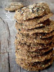 Caraway and Dill Onion Crackers (raw, vegan, gluten-free, nut-free)