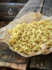 Crunchy Cauliflower Crust Crumbles (raw, vegan, gluten-free, nut-free)
