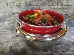 "Marinated ""Grilled"" Vegetable and Mushrooms (raw, vegan, gluten-free, nut-free)"