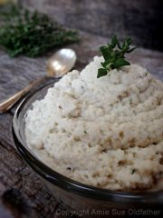 Cauliflower Mash (raw, vegan, gluten-free)
