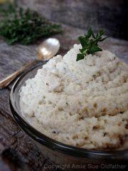 Cauliflower Mash (raw, vegan, gluten-free)