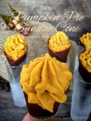 Pumpkin Pie Sundae Cone (raw, vegan, gluten-free)