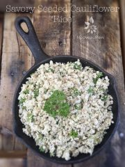 "Savory Seeded Cauliflower ""Rice"" (raw, vegan, gluten-free, nut-free)"