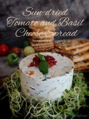 Sun-dried Tomato and Basil Cheese Spread (raw, vegan, gluten-free, cultured)