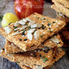 Raw, Vegan, Gluten-free Thin Crust Pizza Crackers