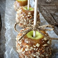 Raw, Vegan, Gluten Free Caramel Apples