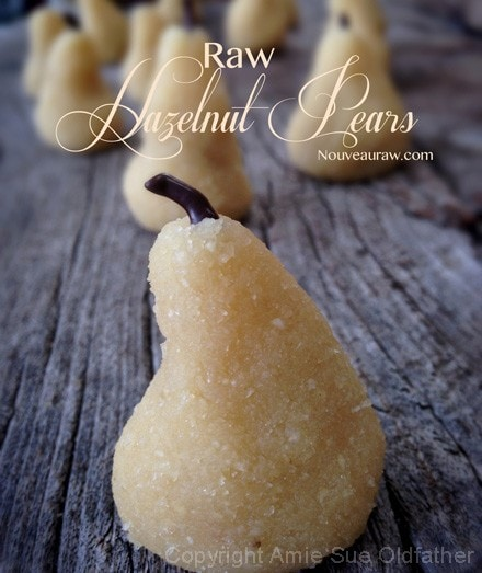 Raw hazel nut pears, creative & yummy